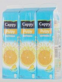 Bautura racoritoare CAPPY PULPY orange 1.0 l Tpak 3 buc.